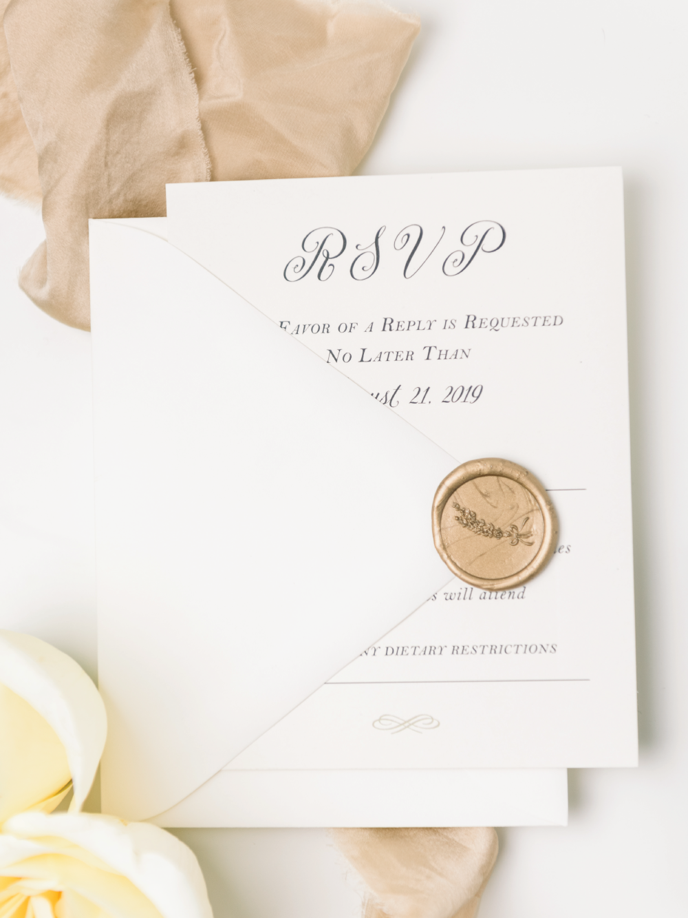 Response Card for custom invitation suite
