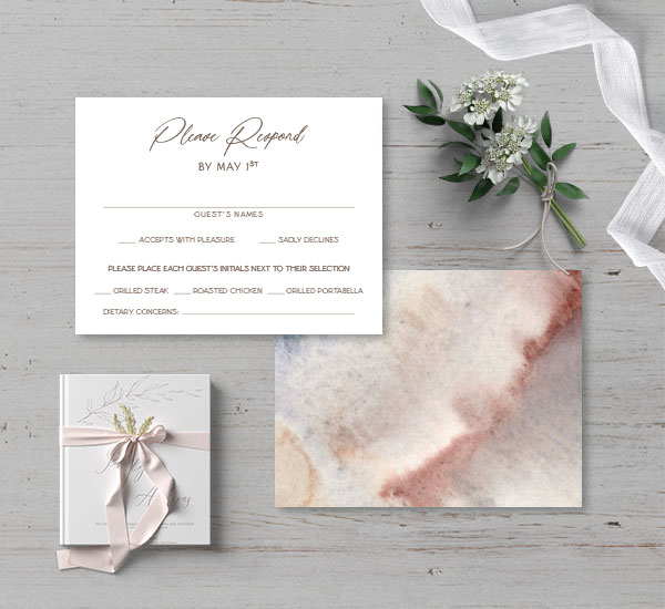 front & back view of rsvp card