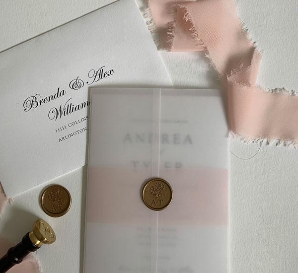 Translucent Vellum Folder for wedding invitation suite