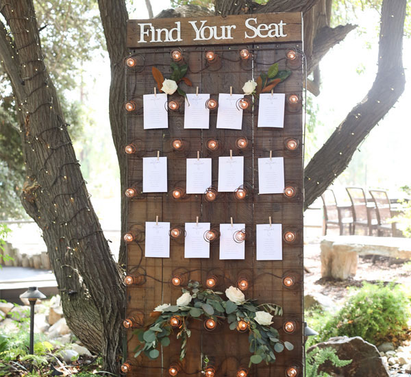 Seating Cards on specialty rental by Madam Palooza Rentals