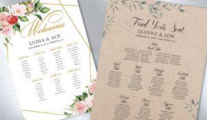 Wedding Day Seating Charts